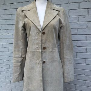 Jackets & Blazers - Nude/tan suede coat